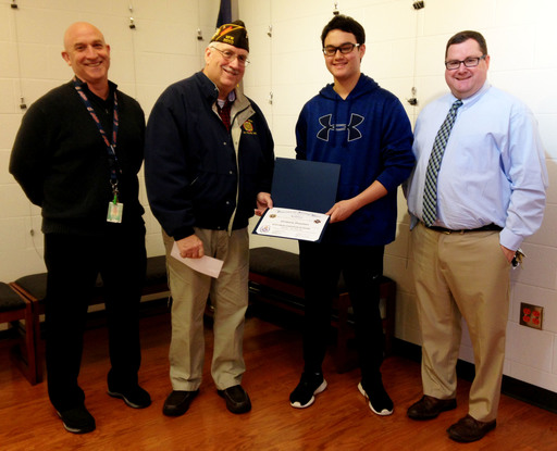 WHS Junior Places in VFW Voice of Democracy Essay Contest