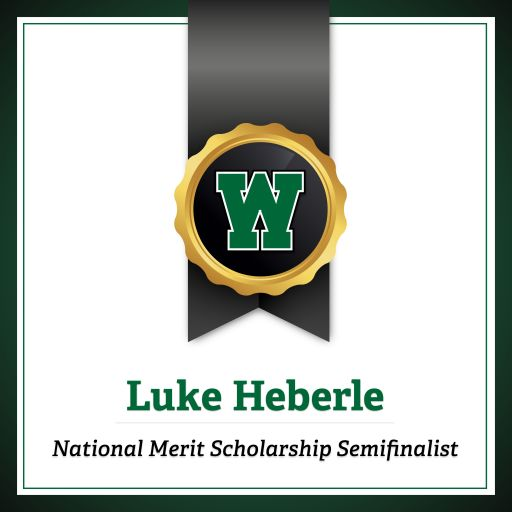 Congratulations to Luke Heberle for Being Named a National Merit® Scholarship Program Semifinalist!