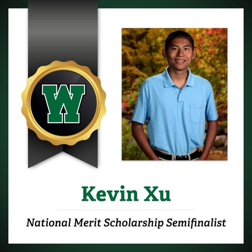 Congratulations to Kevin Xu for Qualifying as a Semifinalist in the National Merit® Scholarship Program