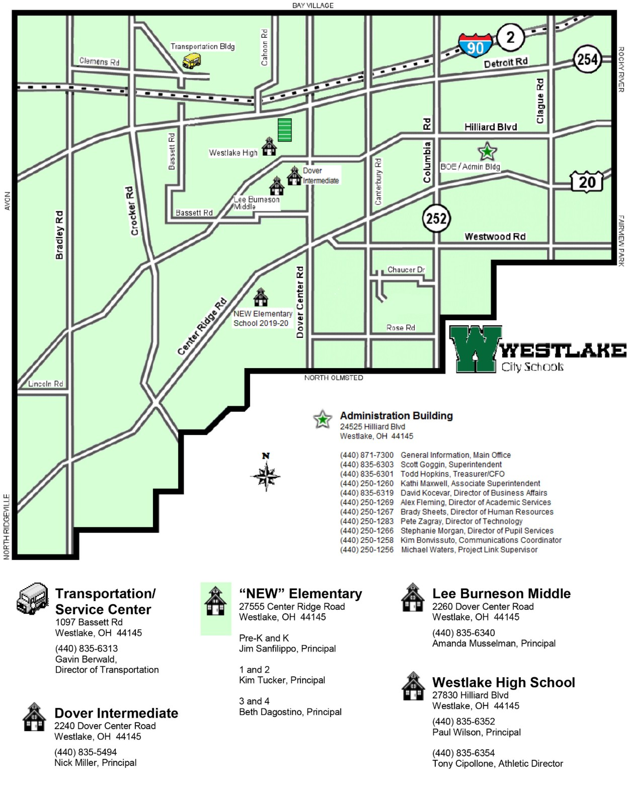 The New School Campus Map.Campus Map Westlake City School District