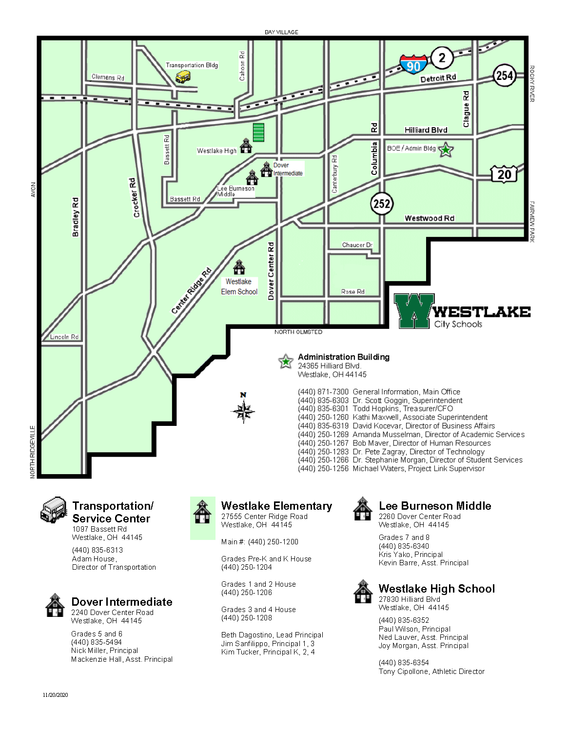 WCS Campus Map