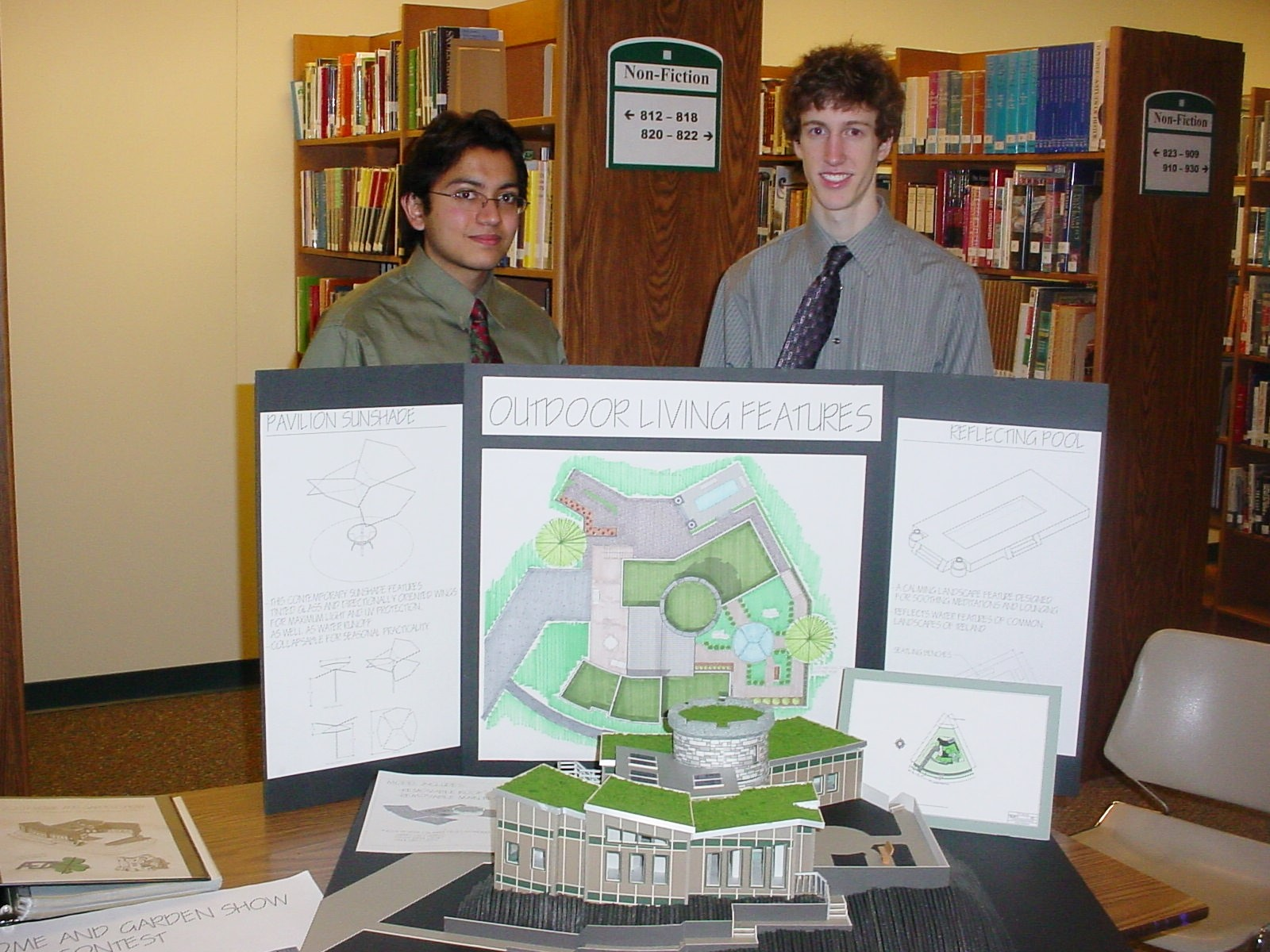 Rakesh Patel and Mark Pothier - winners of the 2007 Student Model Home Design Contest
