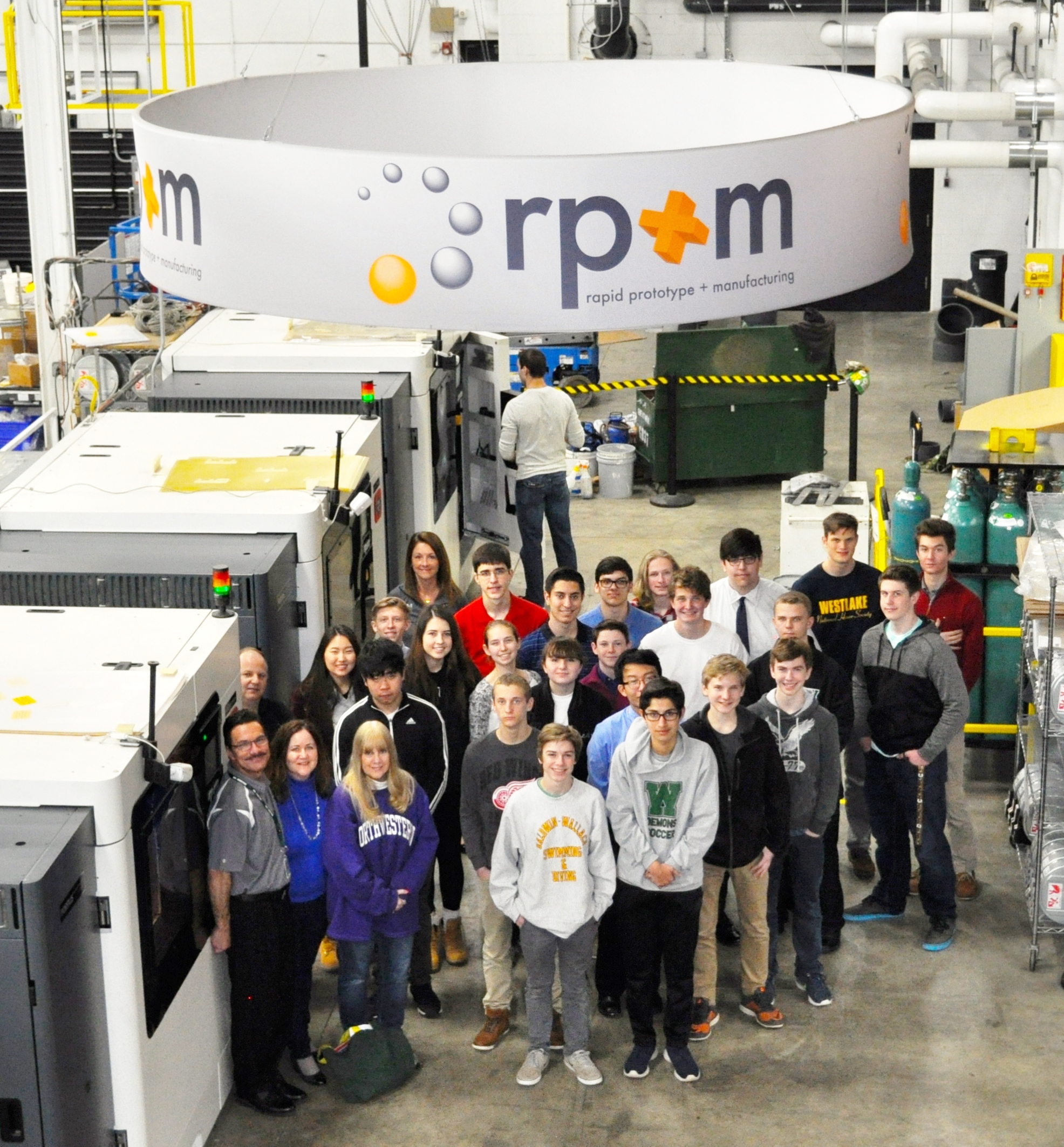 On tour of the rp+m company in Avon Lake - April 2017