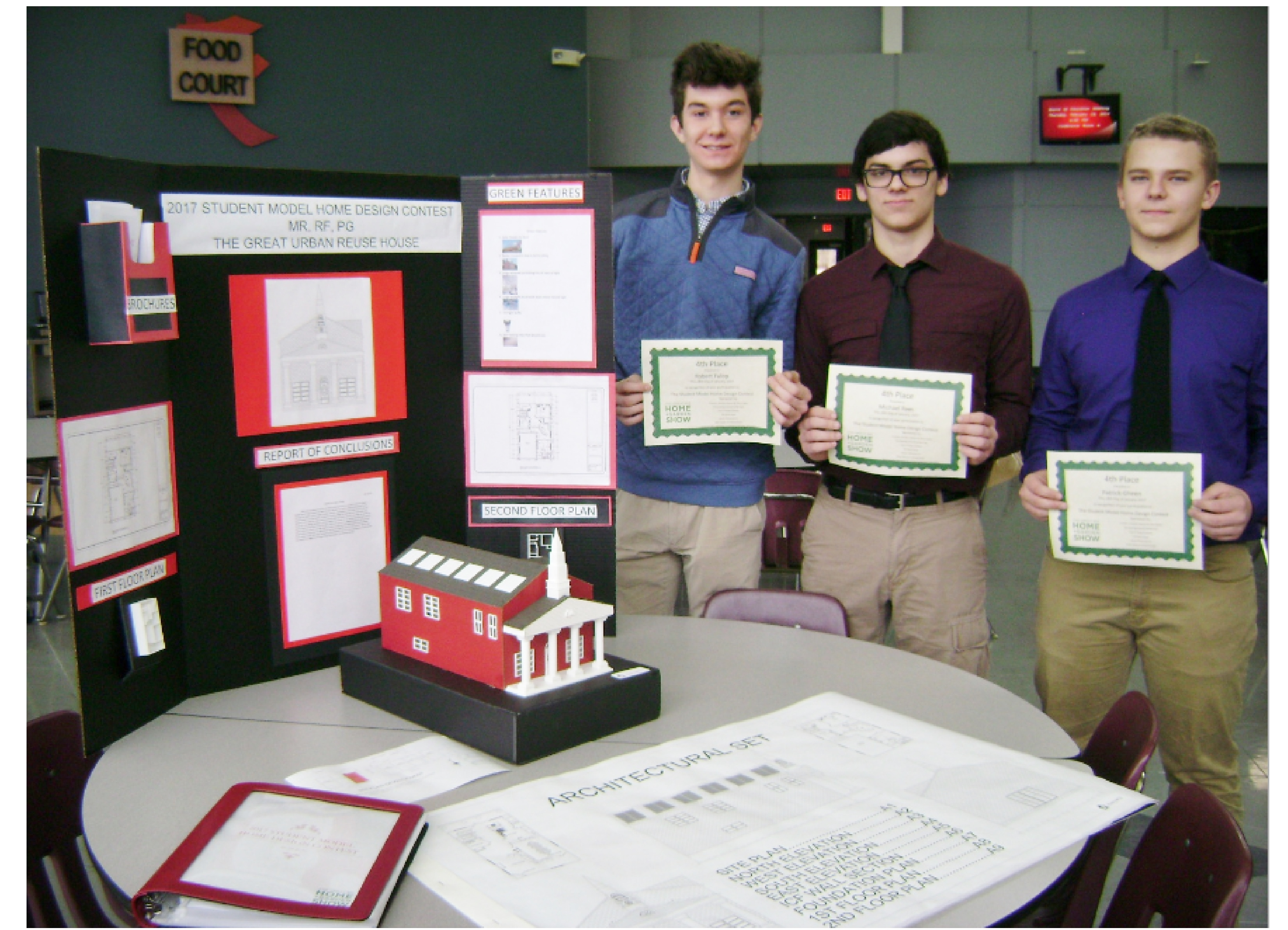 2017 Student Model Home Design Contest - Robert Fulop, Michael Rees, Patrick Gheen - 3rd place team.