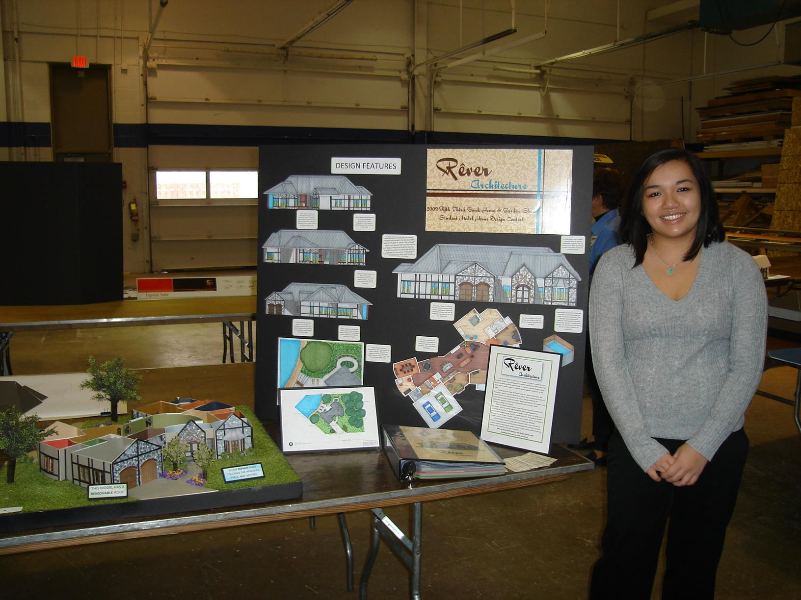 2009 Student Model Home Design Contest - Kristina Cho of Westlake High School - grand prize winner
