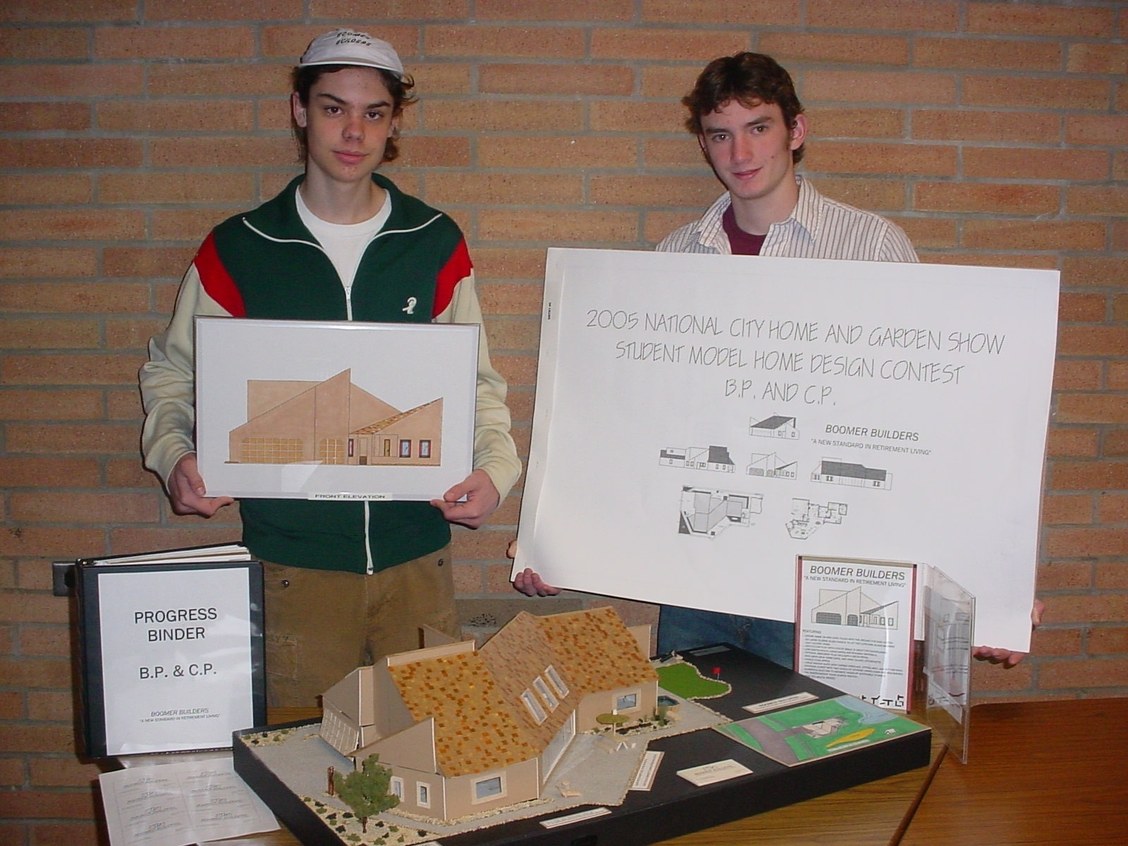 2005 Student Model Home Design Contest - Bear Pope & Charles Pelini - grand prize winners.