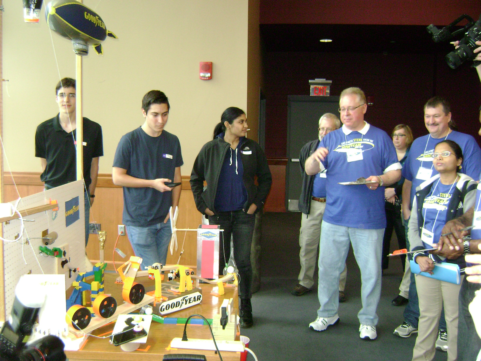2017 Good Year STEM Career Day - Judging of the Rube Goldberg Contest