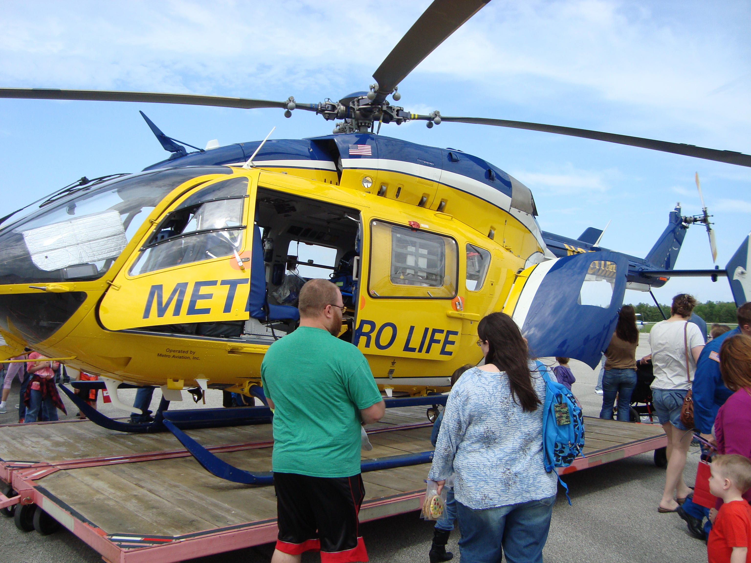 Discover Aviation Day - LifeFlight helicopter 5-19-18
