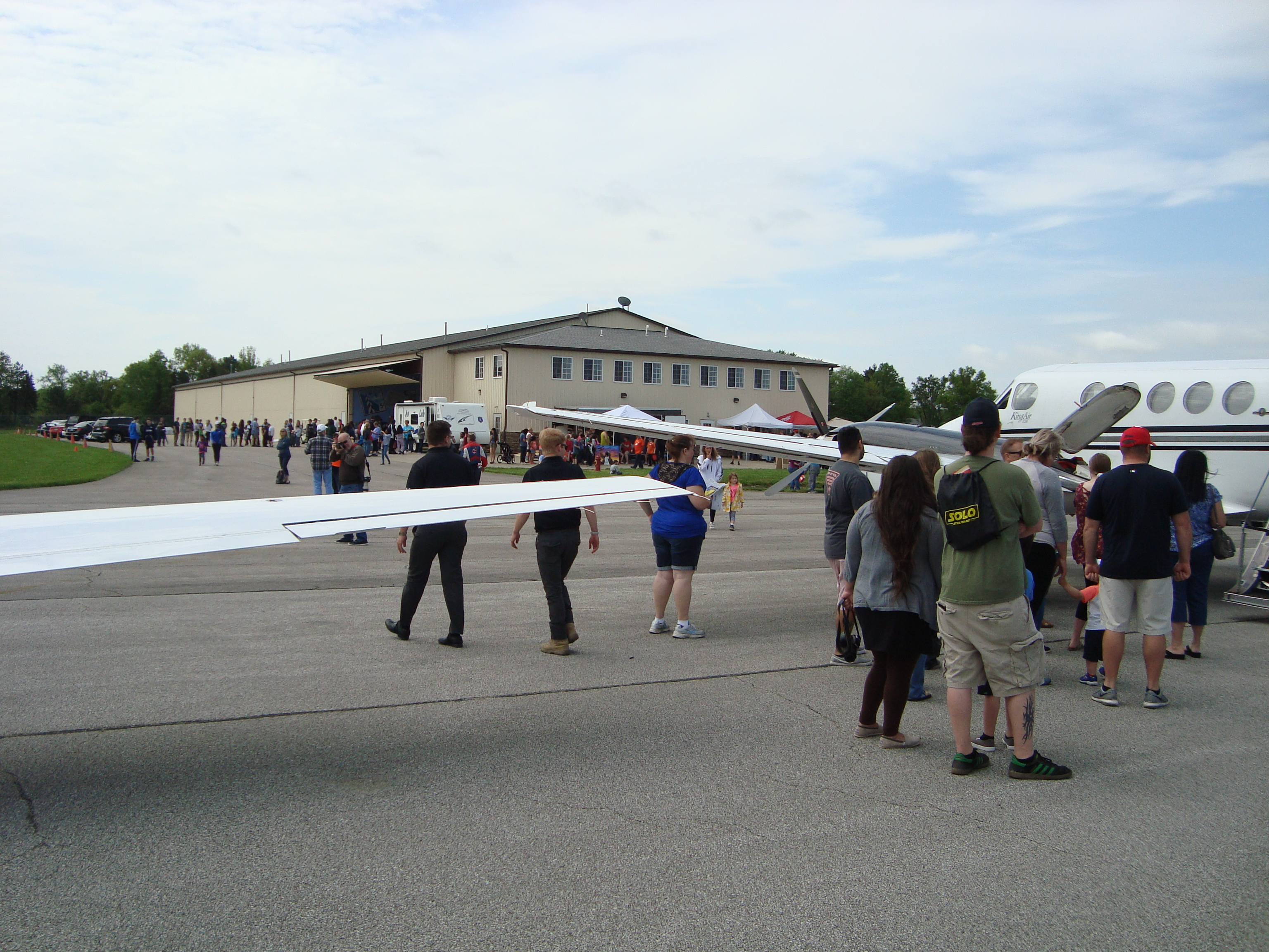 Discover Aviation Day - airport grounds at Lorain County Regional Airport