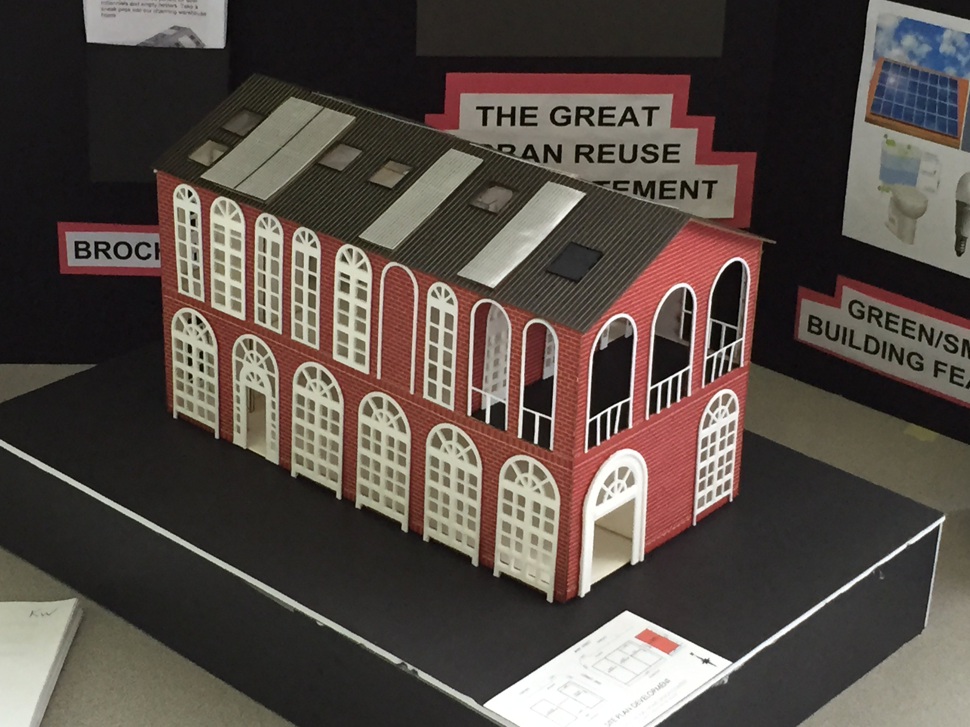 2017 Student Model Home Design Contest - model of the 2nd place team.