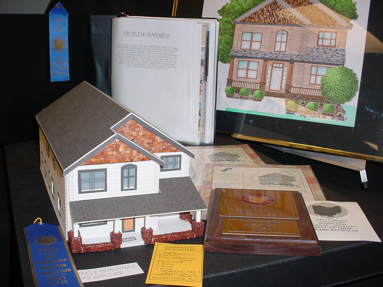 2004 Student Model Home Design Contest - model from the winning team.