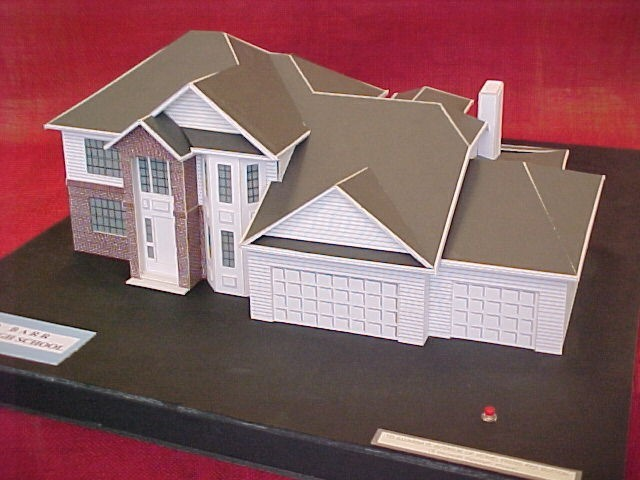 2001 Student Model Home Design Contest - Model of 1st place winner David Barr