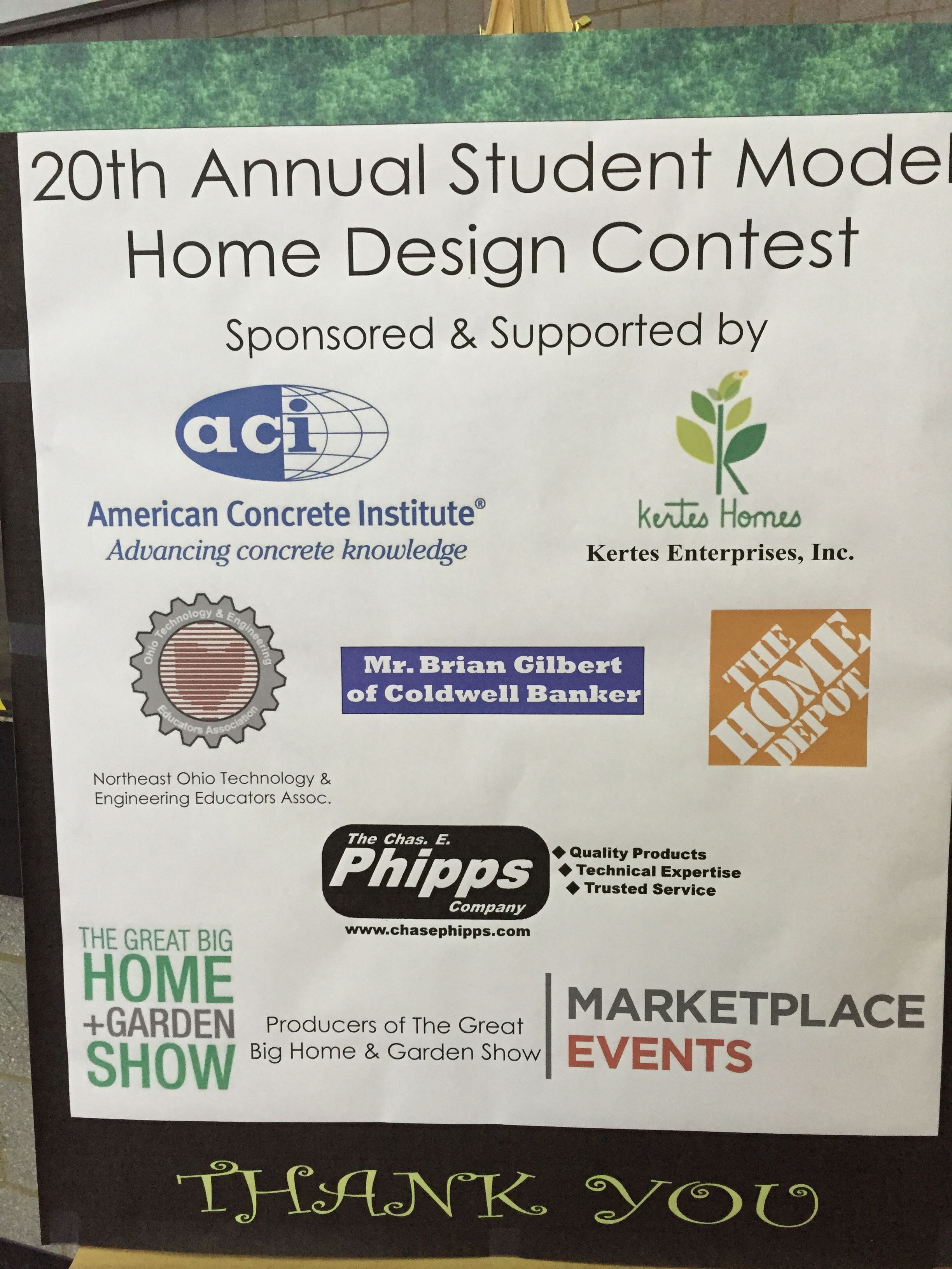 Sponsors of the 2017 Student Model Home Design Contest.