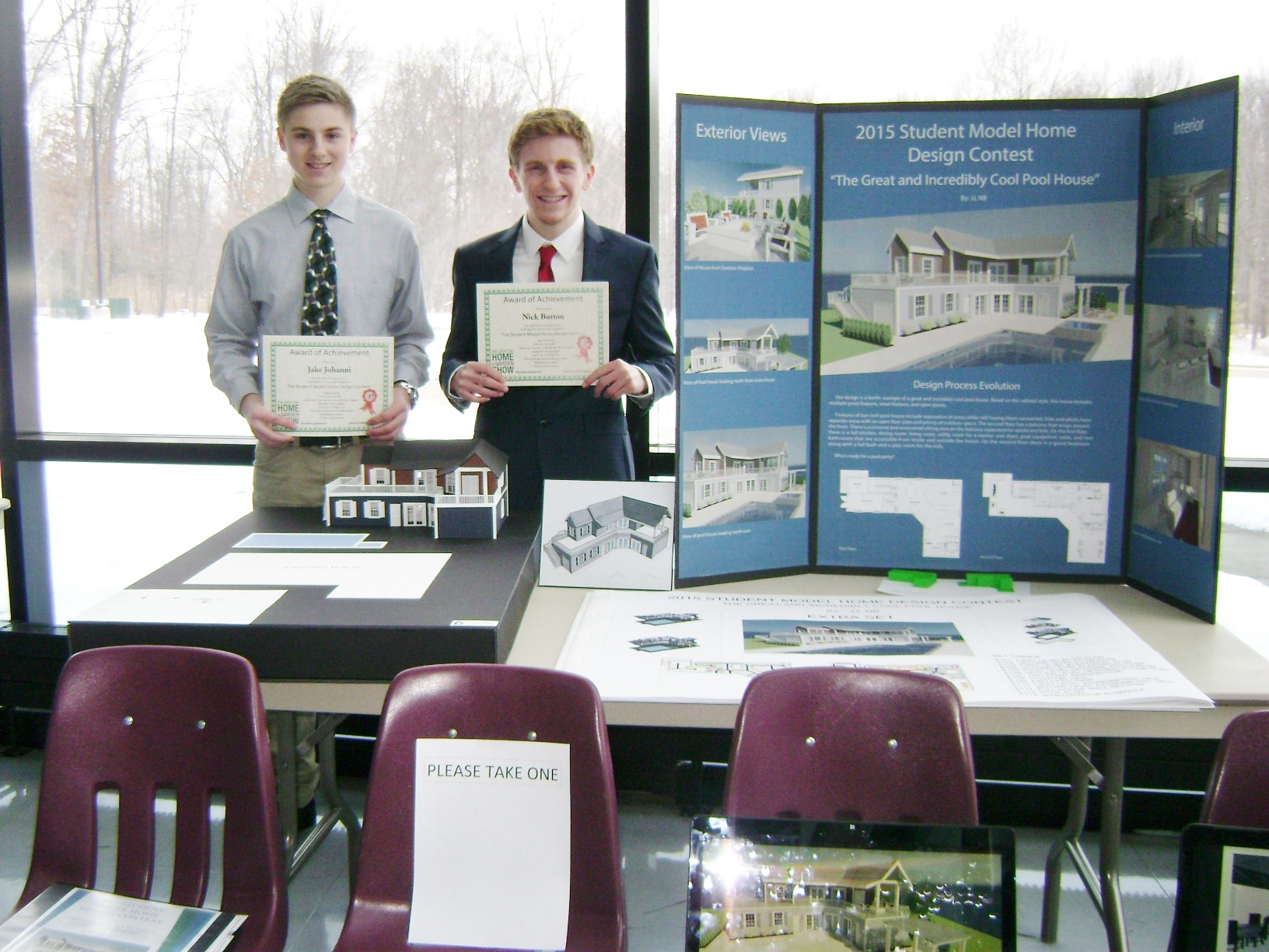 2015 Student Model Home Design Contest - Jake Johanni and Nicholas Button - grand prize winners.