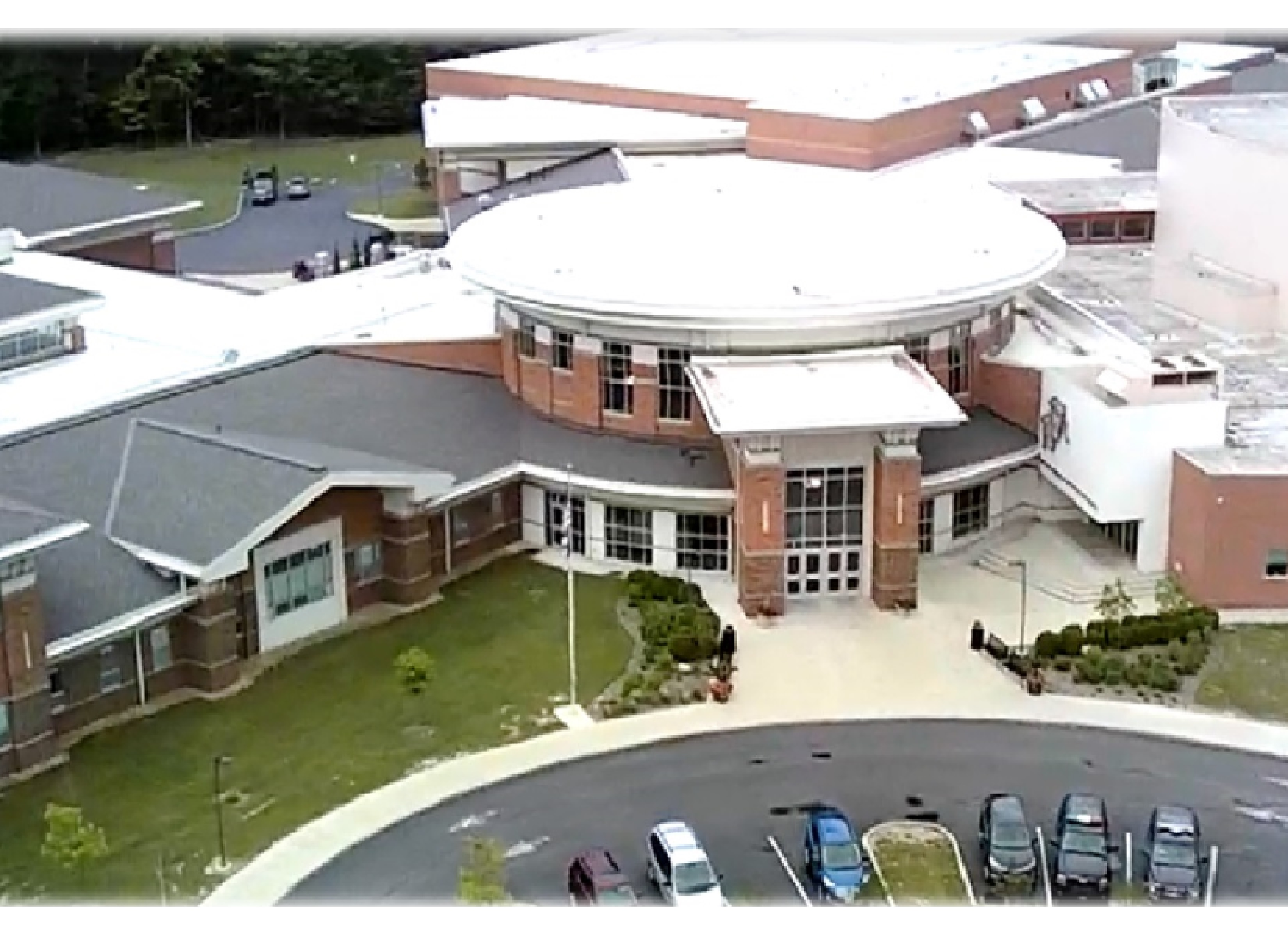 Aerial View of WHS taken with Blue jay drone