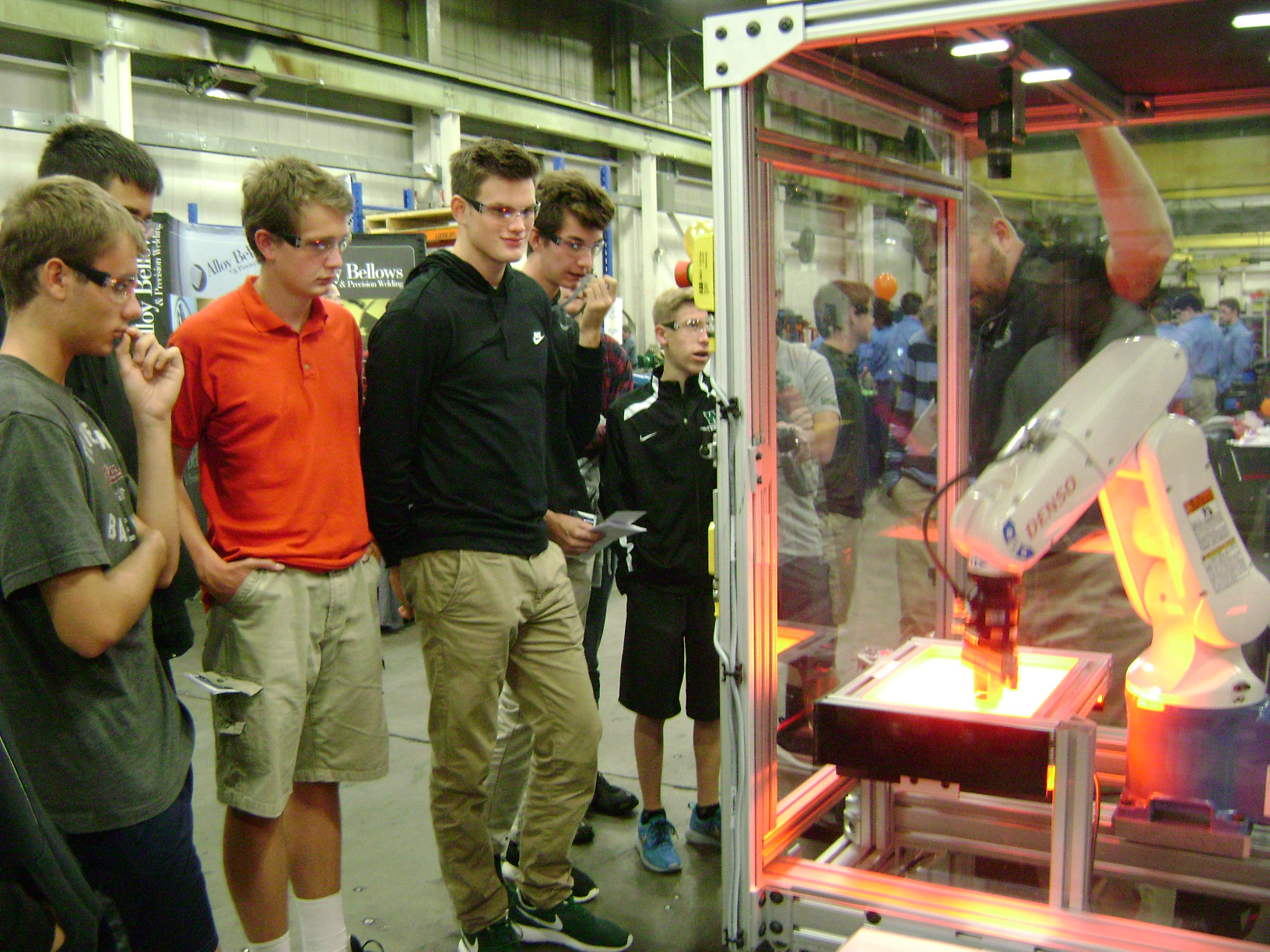 Watching a Denso Robot in operation at the Formtek Field Trip on 10-7-16