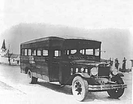 early Dover school bus